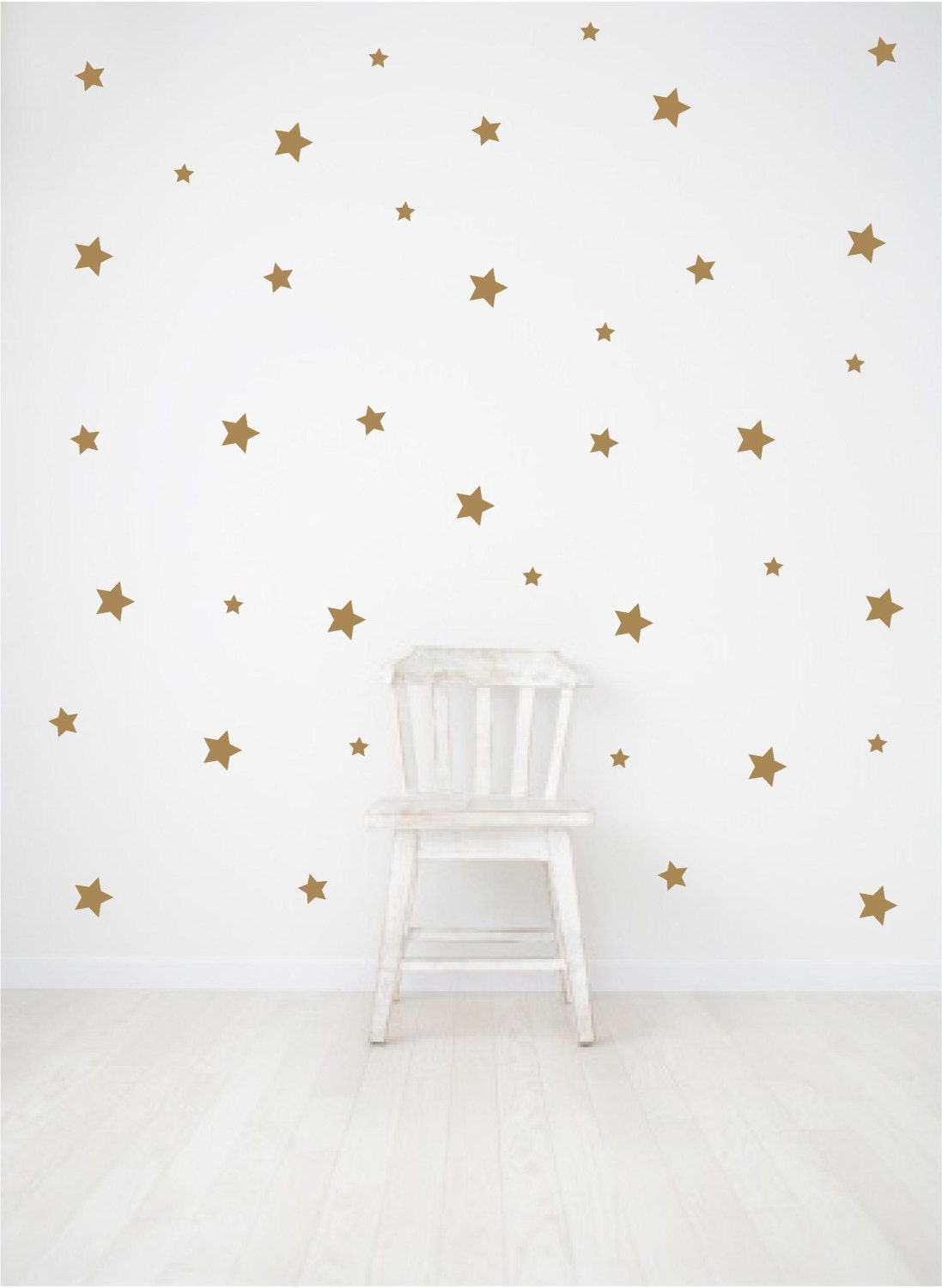 gold wall decals star wall decals nursery wall decals