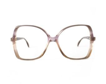 Violet Transparent Vintage Eyeglasses - Silhouette 80's frame - NOS glasses
