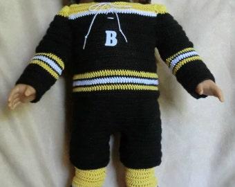220 Hockey Uniform - Crochet Pattern for American Girl dolls -
