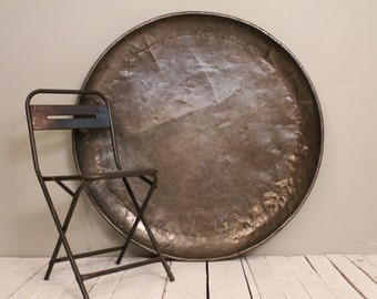 Large Metal Pan Serving Tray Magnet Board Paella Bowl Art Installation Headboard Industrial