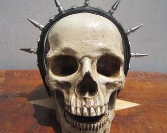 SALE-7 Spike and pyramid stud headband.