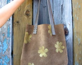 Chocolate Brown Suede 'Sojourner' Hobo Tote Bag Purse - Perfect Size Bag