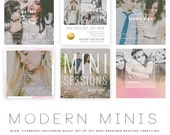 INSTANT DOWNLOAD  Modern Minis Blog, Facebook and Instagram ready Templates vol 2