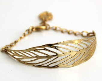 gold barcelet,nature leaf bracelet ,lace cuff bracelet, dainty gold bracelet,adjustable bracelet,nickel free jewelry