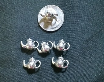 Teapot charm 10-piece mini