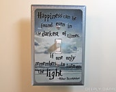 Harry Potter Dumbledore Quote SILVER BEACH VERSION Light Switch Cover Inspirational Quote