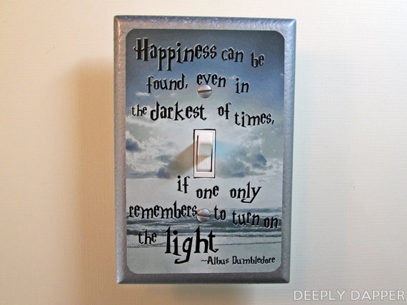 Harry Potter Dumbledore Quote Silver Beach Version By