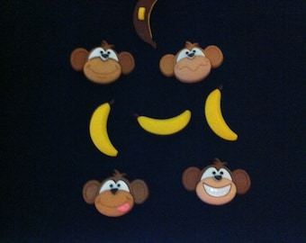 Happy Monkeys Novelty Buttons / Sewing supplies / DIY craft supplies / Plastic Buttons / Party Supplies / Kids Craft Supplies