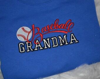 Baseball Grandma Embroidered Shirt
