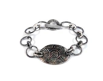 Silver Chain Bracelet | Star Bracelet | Hand Forged Jewelry