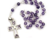 Sterling Silver Anglican Prayer Beads Rosary Amethyst