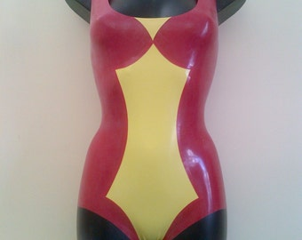 Rubber Latex Spiderwoman Inspired Bodysuit