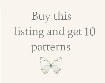 CROCHET PATTERN - super sale of ten 10 patterns bundle deal tutorials black friday