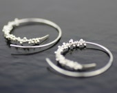 icicle hoops sterling silver earrings - unique modern threaders -  handmade in seattle by lolide