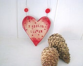 Nadolig Llawen (Merry Christmas in Welsh) Christmas Tree decoration. Made in Wales, UK.