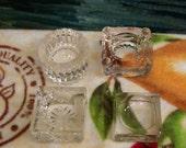 Set of 4 Crystal Salt Dips