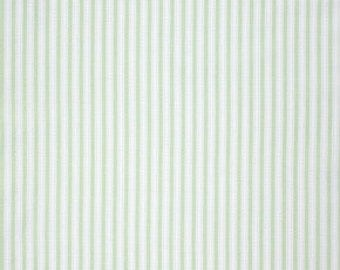 Tanya Whelan Fabric, Slipper Roses, Simple in Green, Striped Fabric, 17 Inches