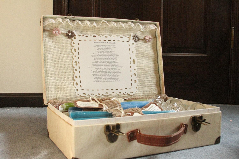 Candle Poem For Wedding Gift: Wedding Candle Poem Set / Bridal Shower Candle Poem