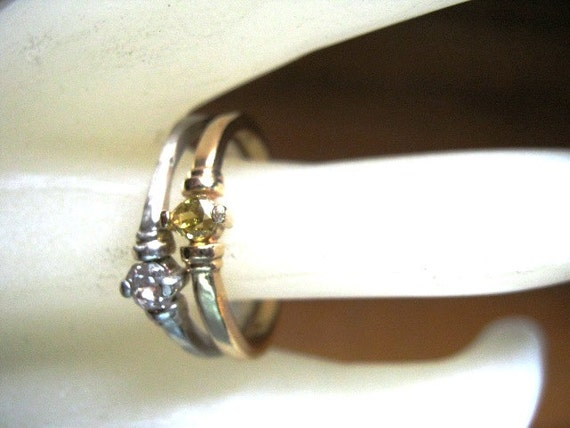 Champagne Blush Diamond Ring Natural 20pt by GriffinsNestJewelry