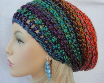 Crochet  Hat Pattern, Slouchy Hat Pattern,  Crochet slouch beanie, Rhythm and  Blues Slouch Beanie