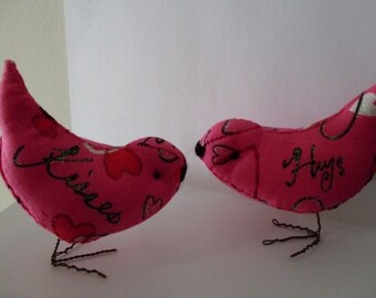 Love Birds Hugs & Kisses  Ornaments Decorations Wedding Cake Toppers