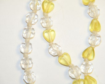 Plastic Yellow Hearts Necklace