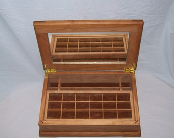 From the Prestige Collection comes the Cherry Jewelry Box with Mirror  under lid 15''x10 1/4''x5''Handmade
