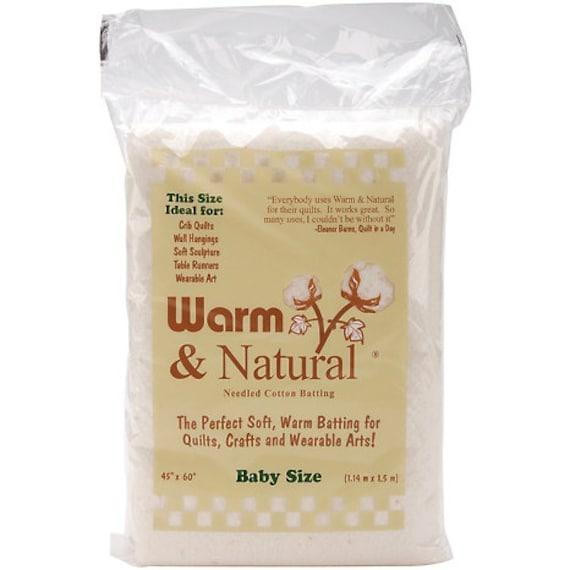 Warm & Natural Batting Crib-Size 45 x 60