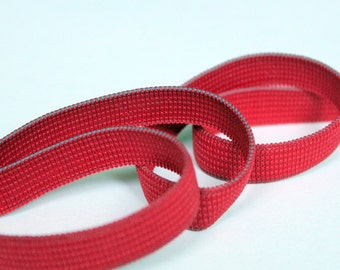 5 yards Red Elastic, Half Inch Flat Braided Elastic, Craft Supplies, Sewing Notions, elas002/5