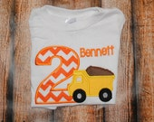 Personalized Dump Truck Birthday Shirt or Body Suit