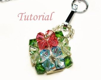 Beading Tutorial - Beaded Hydrangeas Pendant