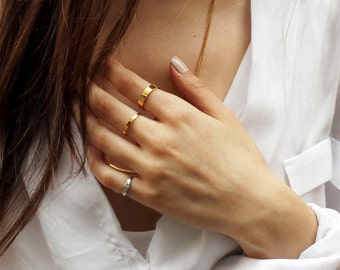 uber cool -ring (simple gold/silver/bronze plated band)