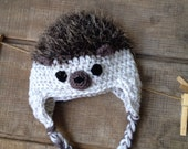 Hedgehog Crochet Hat, Hedgehog Beanie, Child's Hedgehog Hat, Newborn, Baby Toddler Hedgehog hat