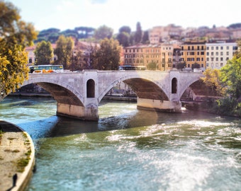 The Tiber, Rome Photography, Italy, Fiume Tevere, Water, Architecture