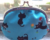 Medium Handmade Coin Purse - Little Black Cats