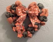 Heart Shaped Burlap Wreath
