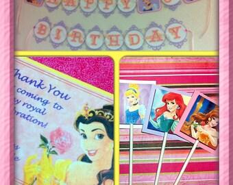 DISNEY PRINCESSES - Mini Birthday Party Set
