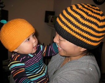Baby Pumpkin Hat in Infant 9 to 24 months