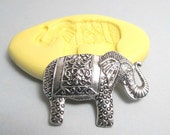 Indian Elephant - Flexible Silicone Mold - Push Mold, Jewelry Mold, Polymer Clay Mold, Resin Mold, Craft Mold, Food Mold, PMC Mold