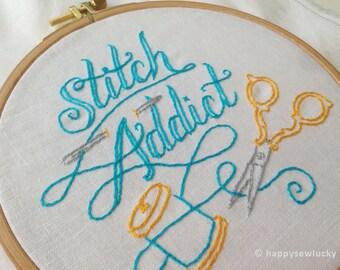 STITCH ADDICT embroidery pattern