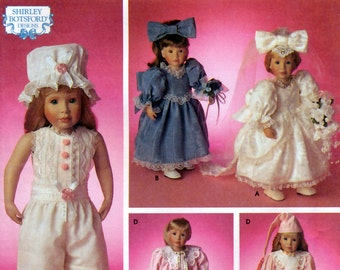 """Simplicity Crafts 8209 by Shirley Botsford Designs Clothes for 18"""" Doll Sewing Pattern - Uncut"""