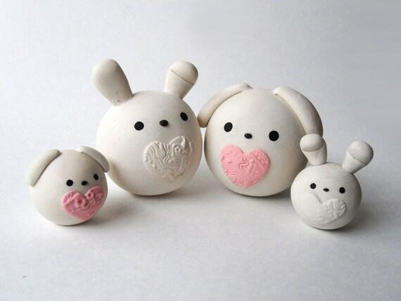 Items similar to Clay Cute Round Animals - Ribbits ...