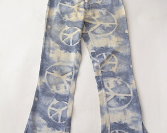 1960s Hippy PEACE Bellbottoms