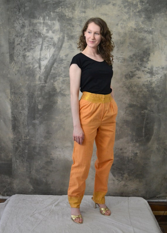 Orange and Gold Indian Pants