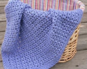 Crochet Baby Afghan Blanket V Stitch Blanket Crib Blanket