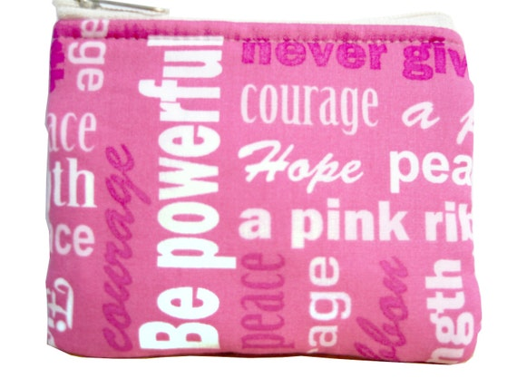 Think Pink Breast Cancer Awareness Coin Bag