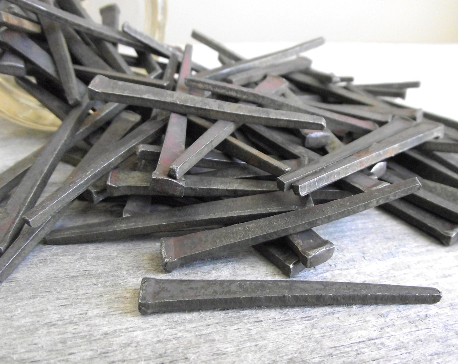 Square Cut Nails Vintage Iron Nails Industrial Set Of 12
