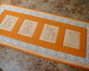 table runner quilted table runner embroidered table runner machine embroidered