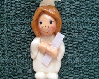 graduate ornament handmade from bread dough by judy caron