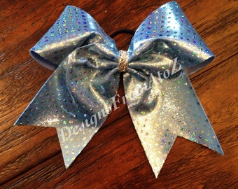 Sky Blue Mystique Cheer Bow